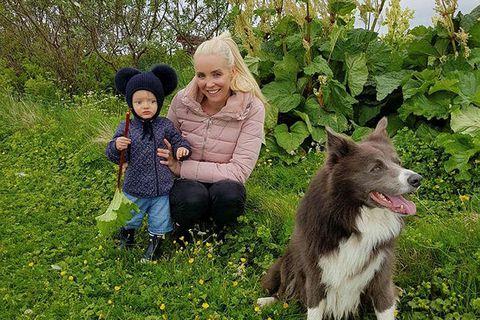 Ólafur Elí, Heiða og hundurinn Heimir.