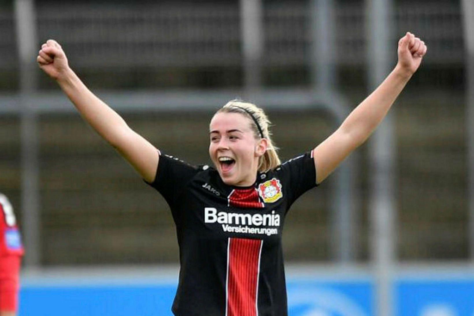 Sandra María Jessen var í byrjunarliði Bayer Leverkusen í dag.