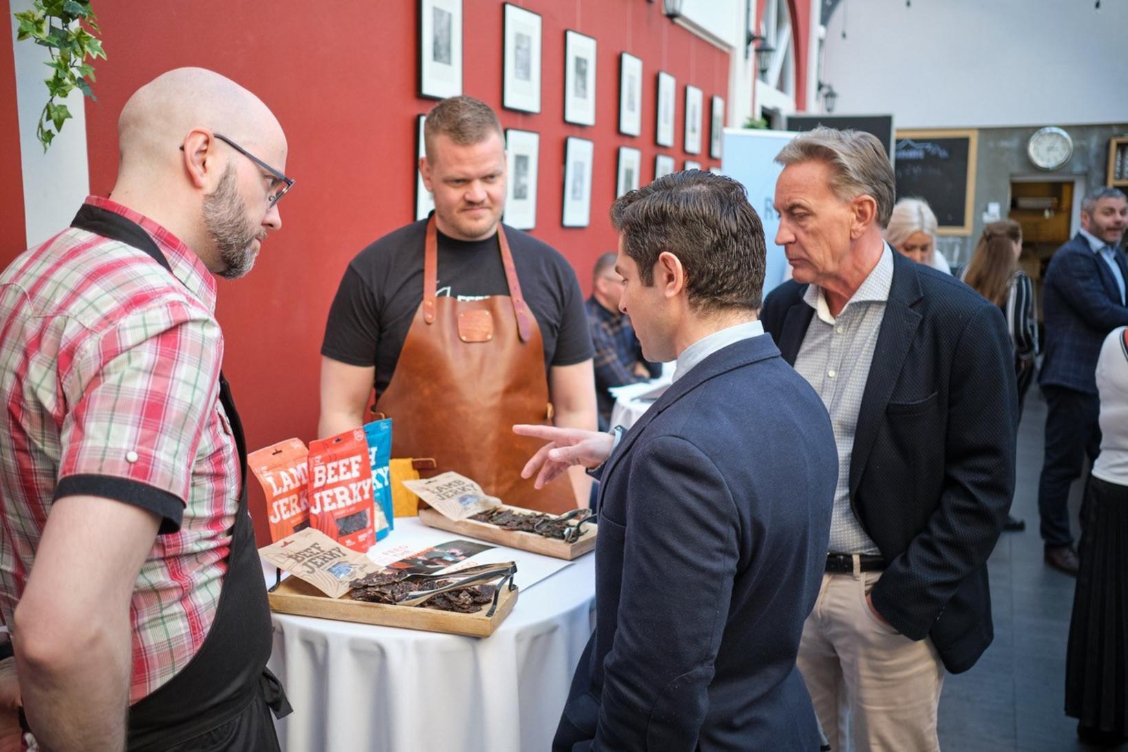 Frá kynningu fyrirtækisins Feed the Viking á uppskerudeginum árið 2019.
