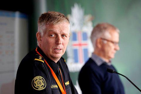 Víðir Reynisson, yfirlögregluþjónn almannavarnadeildar ríkislögreglustjóra, og Þórólfur Guðnason sóttvarnalæknir.