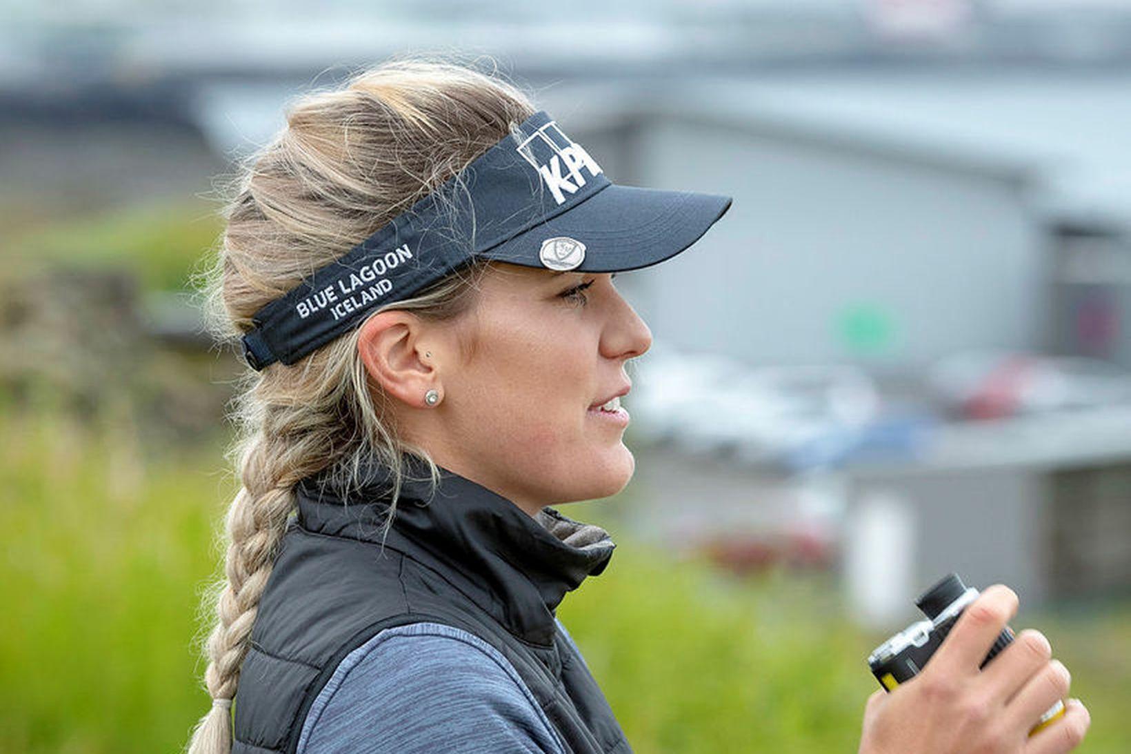 Ólafía Þórunn Kristinsdóttir er á sínu fyrsta LPGA-móti á þessu …