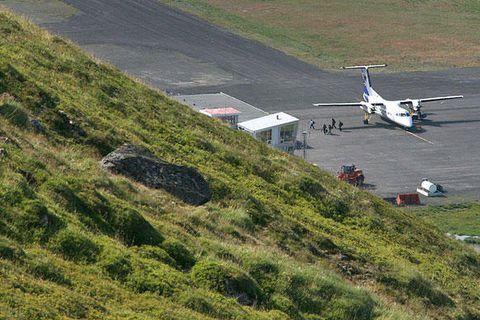 From Ísafjörður Airport.