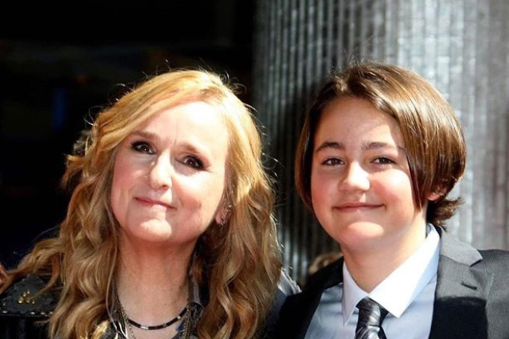 Melissa Etherigde og sonur hennar Beckett.