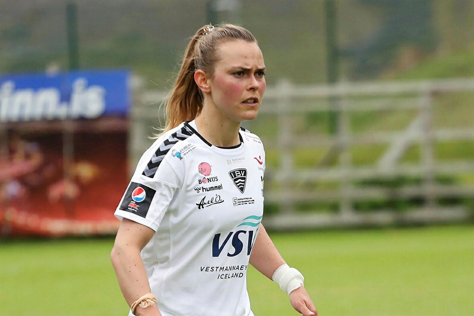 Hanna Kallmaier fyrirliði ÍBV.
