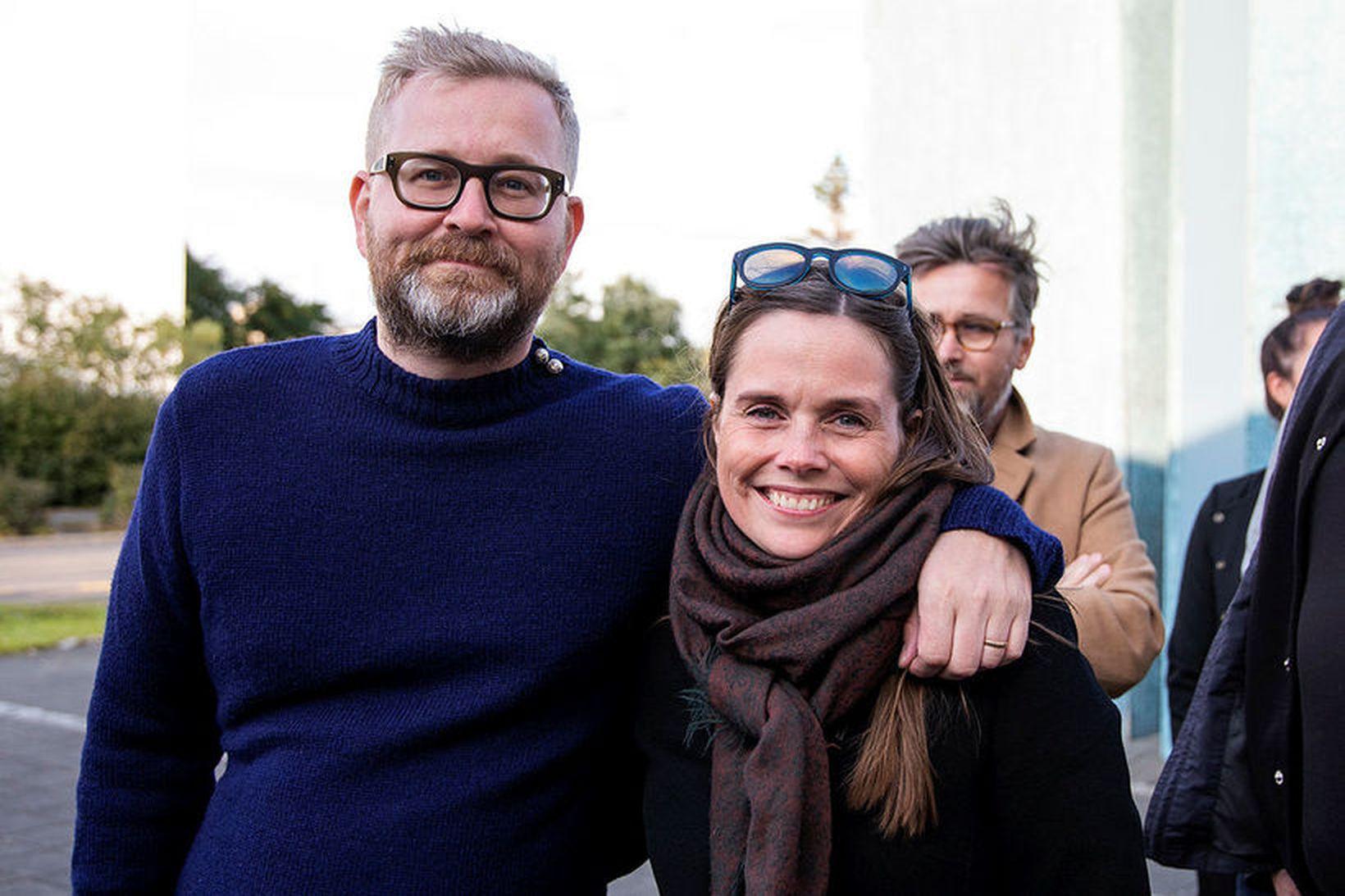 Katrín Jakobsdóttir forsætisráðherra og Gunnar Örn Sigvaldason eiginmaður hennar, létu …