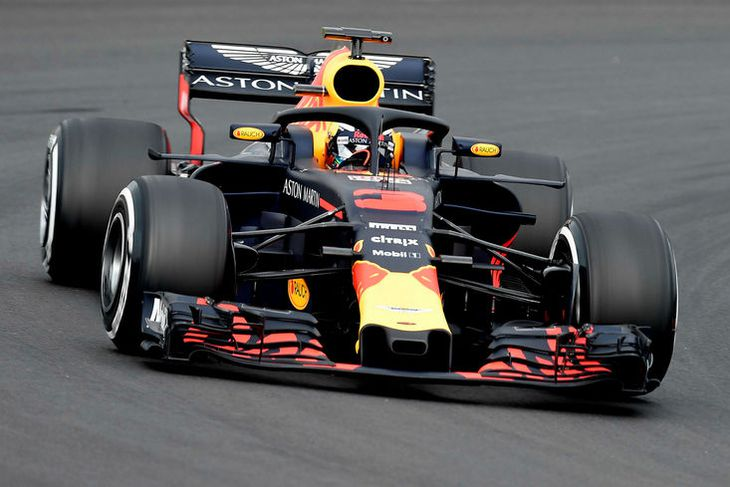 Daniel Ricciardo í Barcelona í dag.