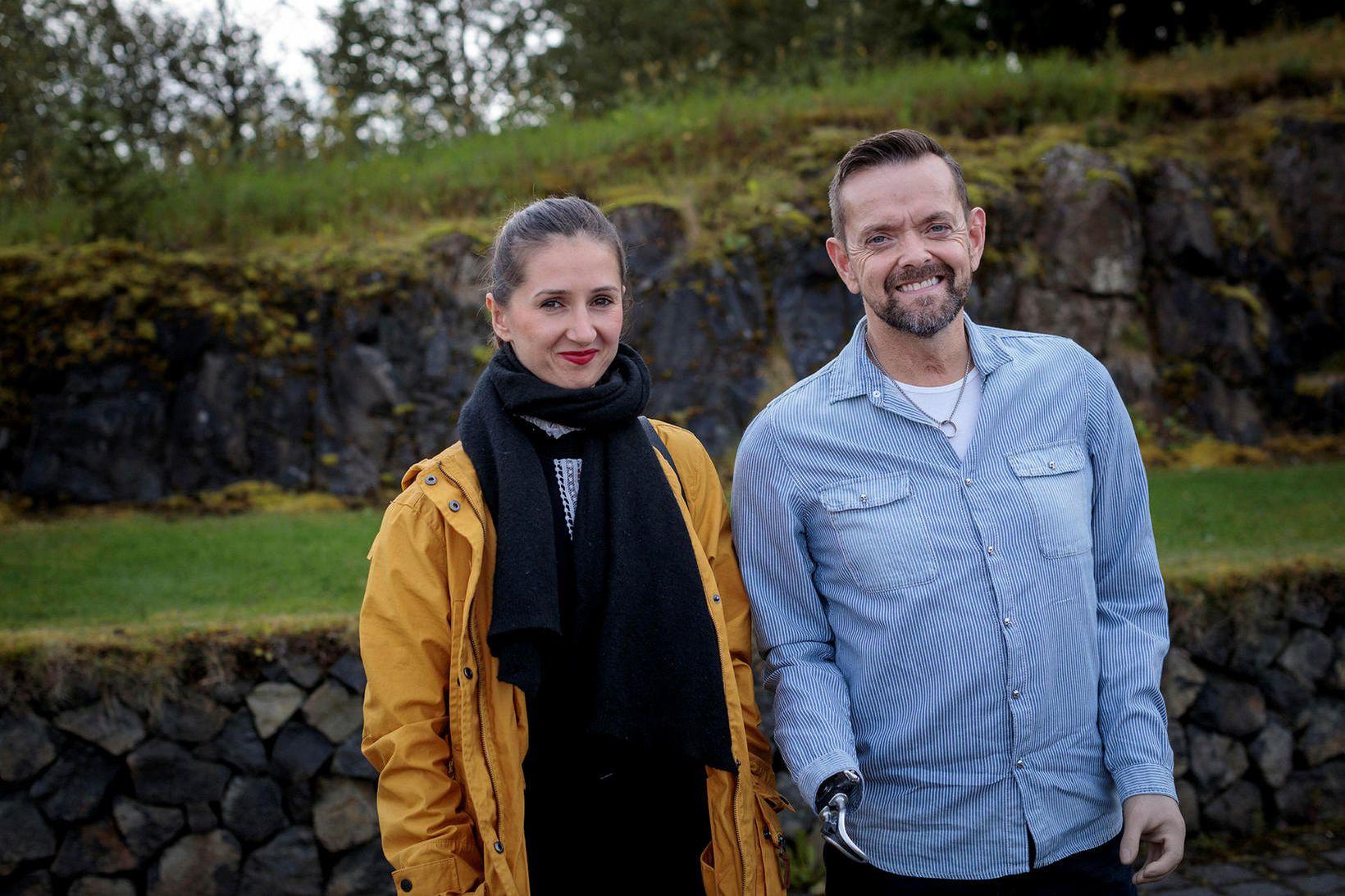 Guðmundur Felix ásamt eiginkonu sinni Sylwiu Gretarsson Nowakowska sem hann …