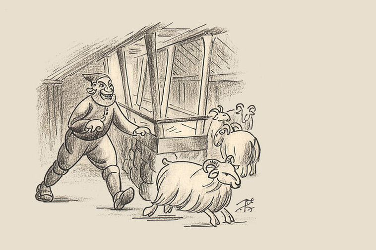 Stekkjarstaur, the first and tallest of the yule lads, as he was illustrated in the ...