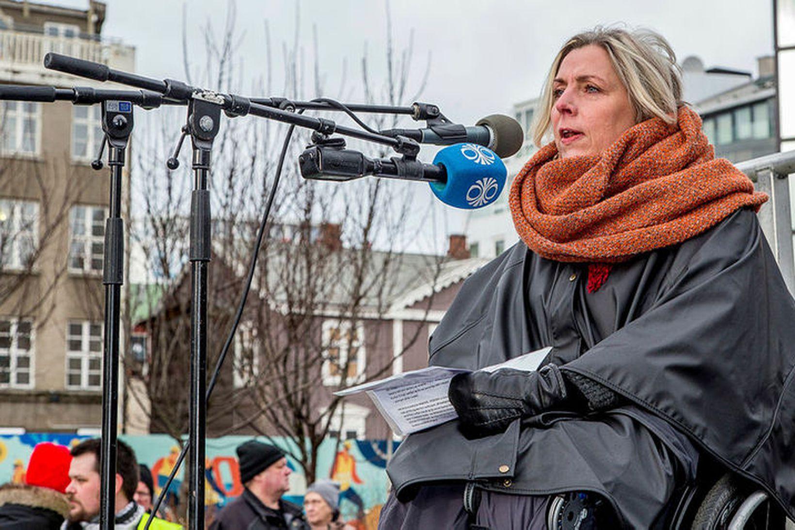 Þuríður Harpa Sigurðardóttir, formaður Öryrkjabandalagsins, segist hafa áhyggjur af því …