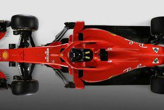 Ferrari svipti SF71H-bílinn hulum í Maranello í dag.