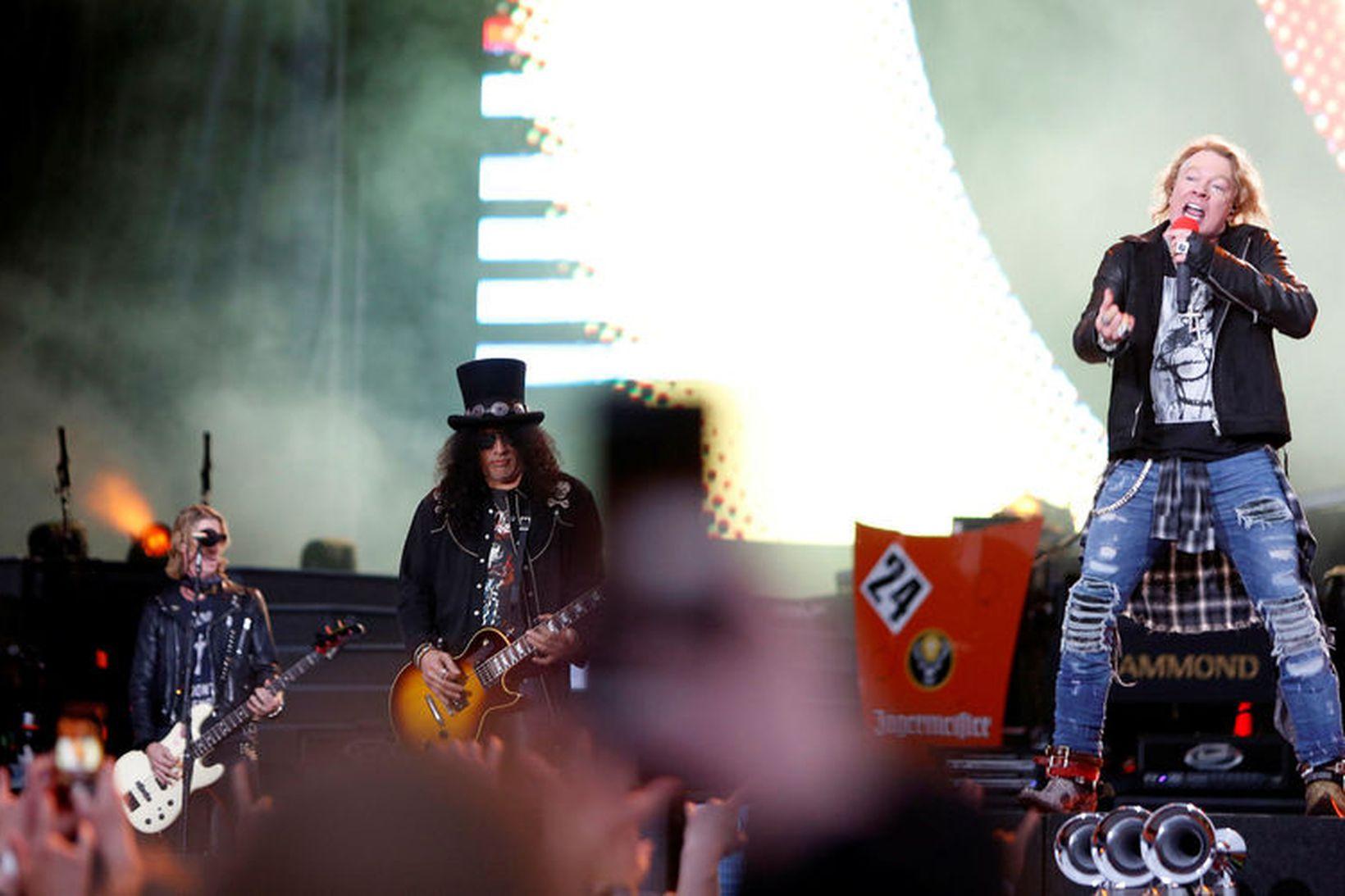 Guns N' Roses á Laugardalsvellinum sumarið 2018.