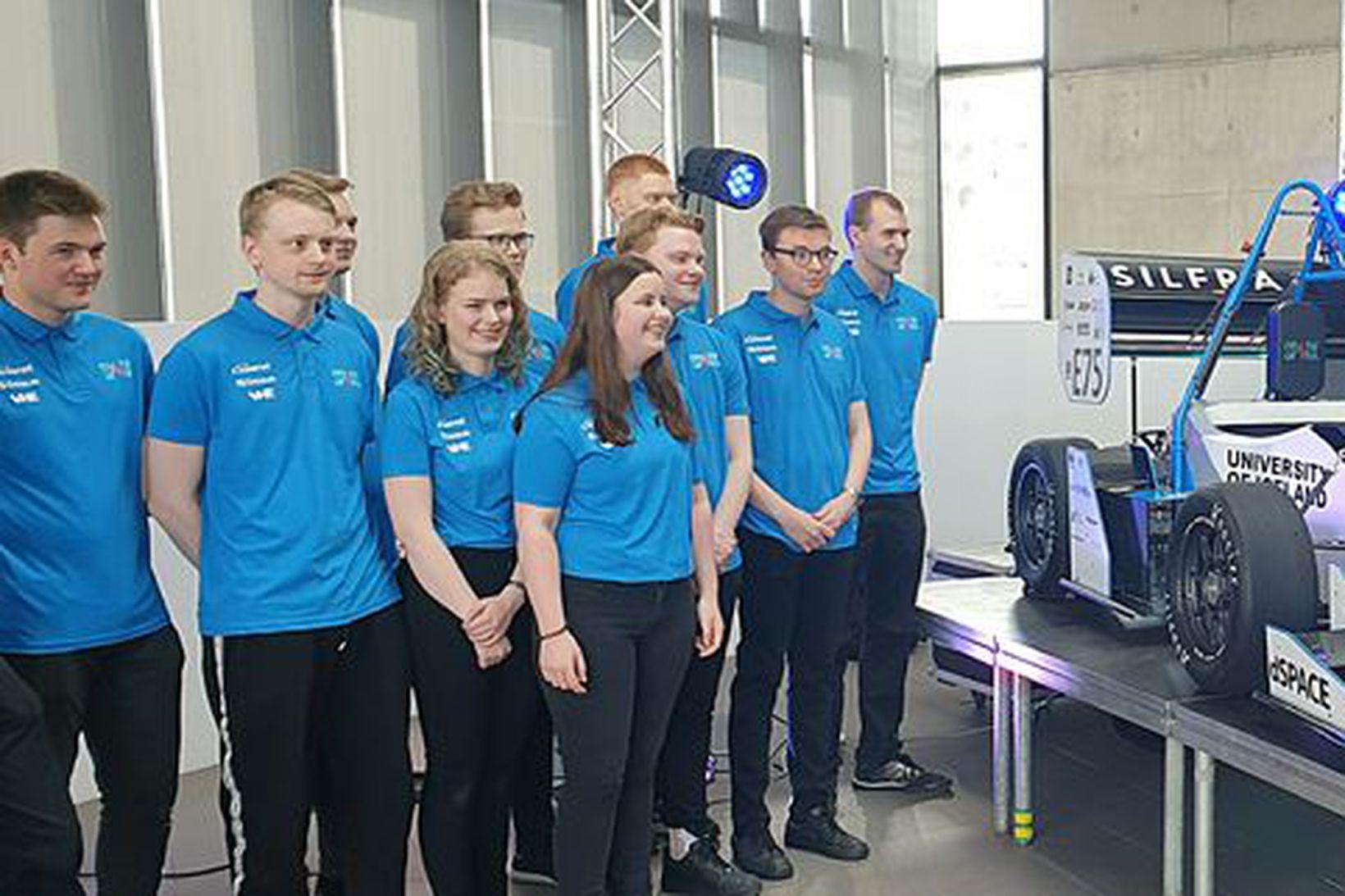 Team Spark, kappaksturs- og hönnunarlið Háskóla Íslands, tekur þátt í …