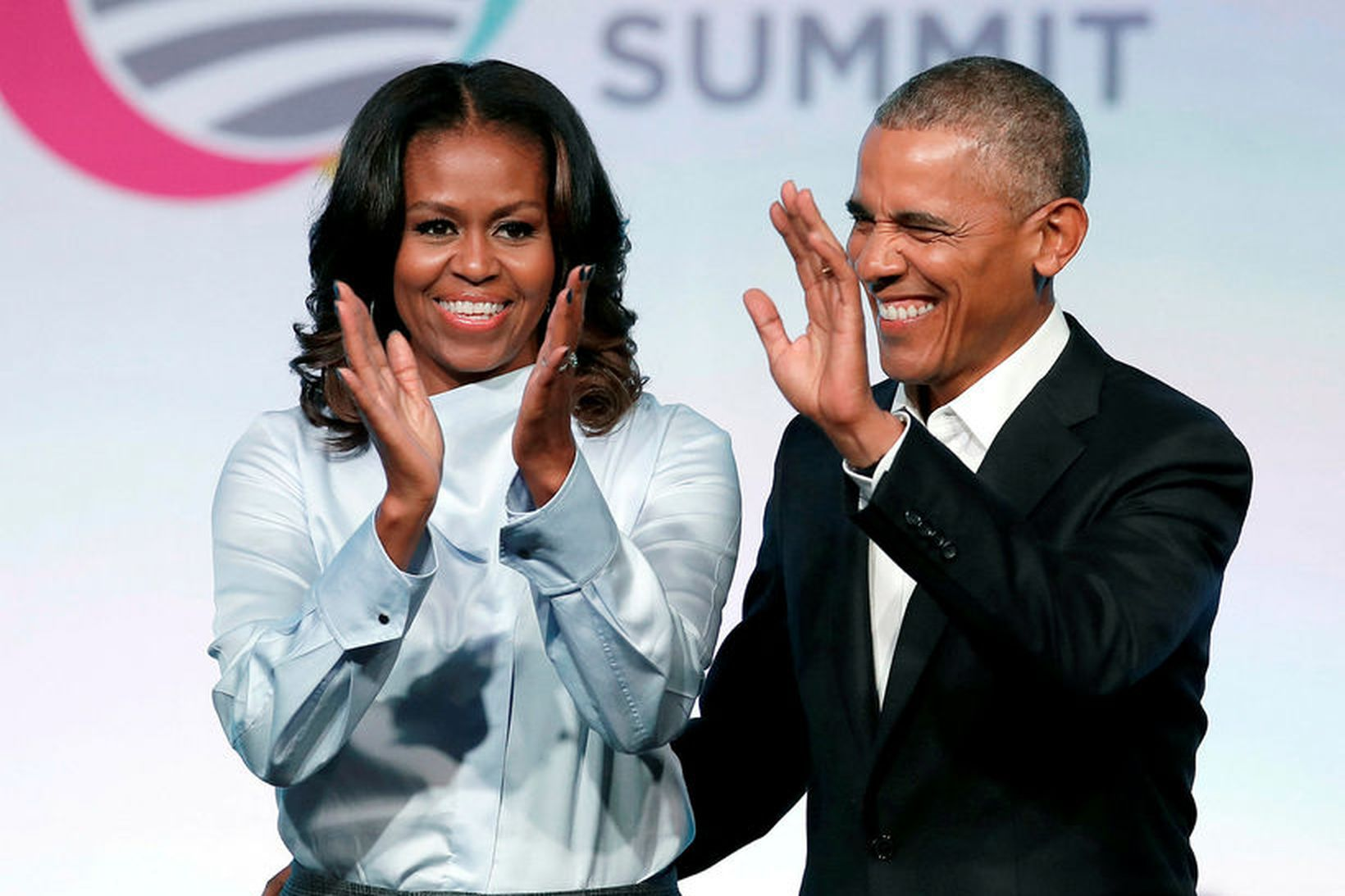 Michelle og Barack Obama.