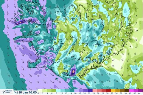 The purple colour depicts windspeeds of 16-24 m/s.