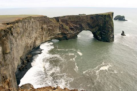 Dyrhólaey is  a 120-metre high promontory, not far from Vík in South Iceland.