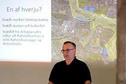 Halldór Páll Gíslason á blaðamannafundi í síðasta mánuði.