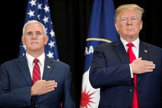 Mike Pence og Donald Trump.
