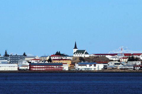 Þátturinn verður sendur út frá Borgarnesi í kvöld, á vegum Kvikmyndafjelags Borgarfjarðar.