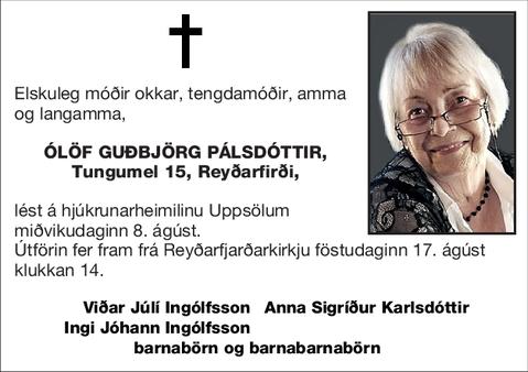 Ólöf Guðbjörg Pálsdóttir,