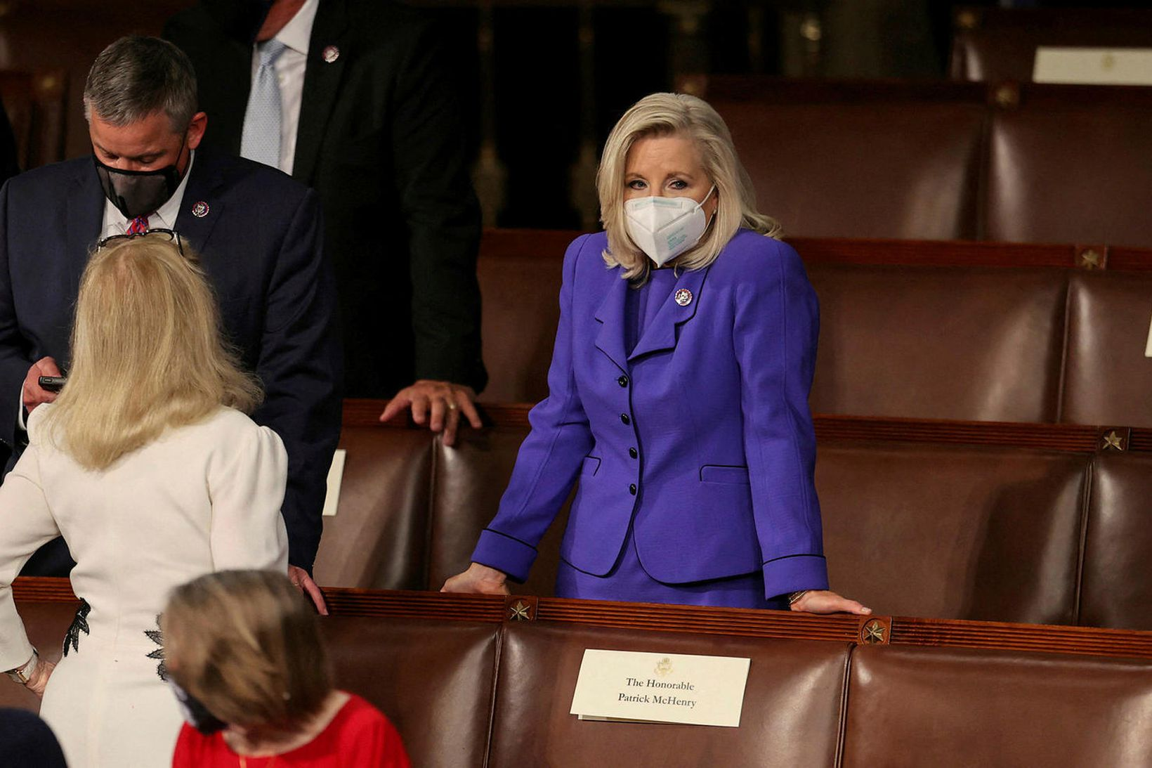 Liz Cheney, formaður þingflokks Repúblikana í fulltrúadeildinni, en hún gæti …