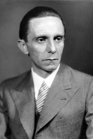 Joseph Goebbels var áróðursmeistari Hitler.