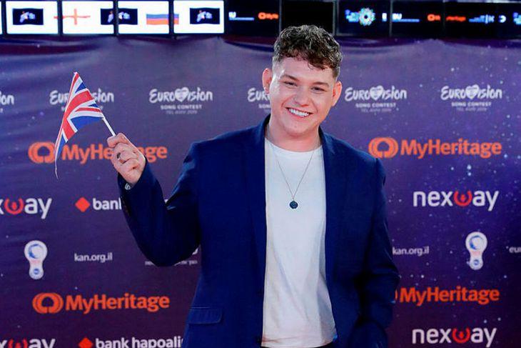 Michael Rice tók þátt í fyrir hönd Breta í Eurovision.
