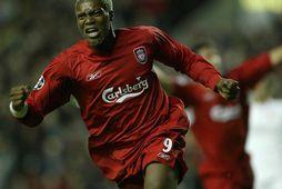 Djibril Cisse í búningi Liverpool.