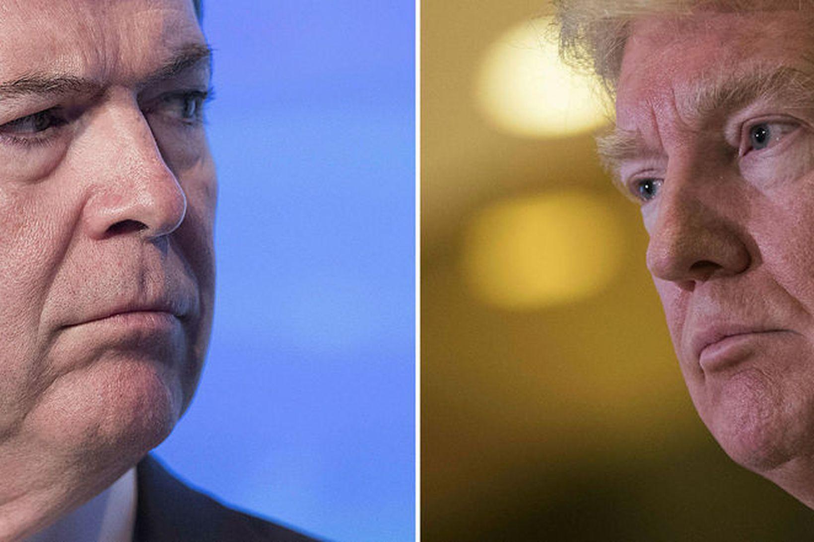 James Comey og Donald Trump hafa átt í orðastríði um …