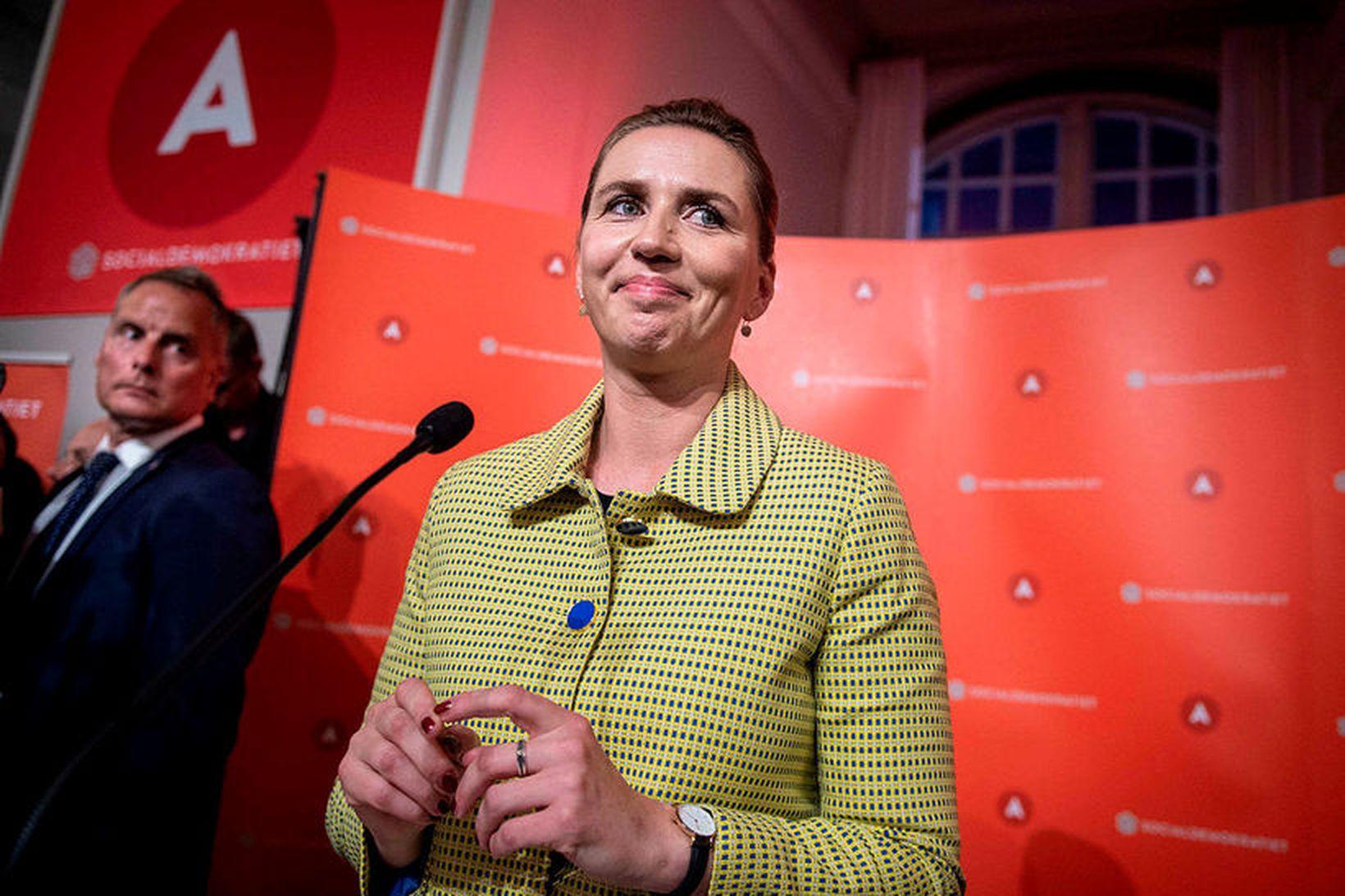 Mette Frederiksen, tilvonandi forsætisráðherra Danmerkur.
