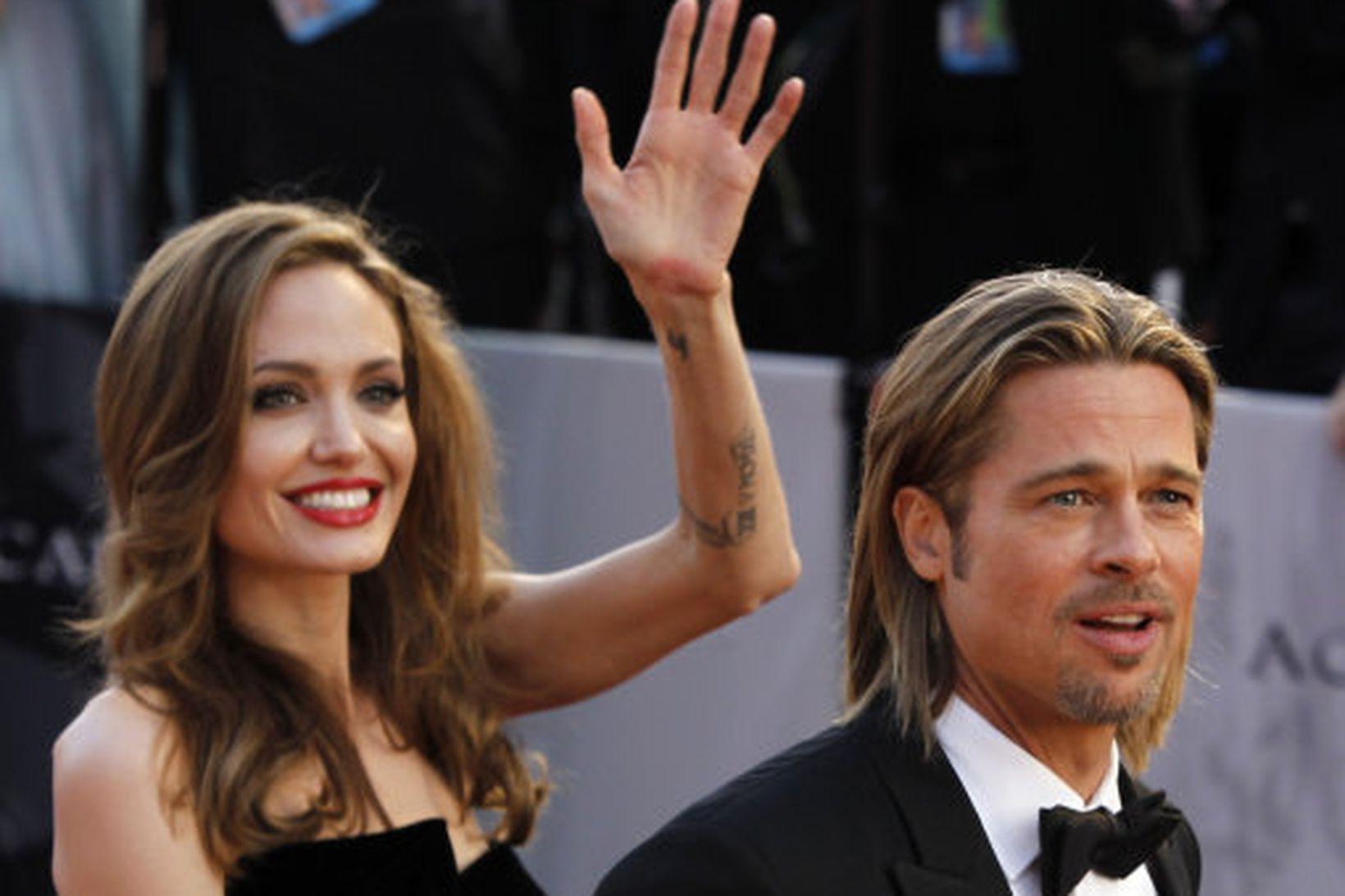 Angelina Jolie og Brad Pitt.