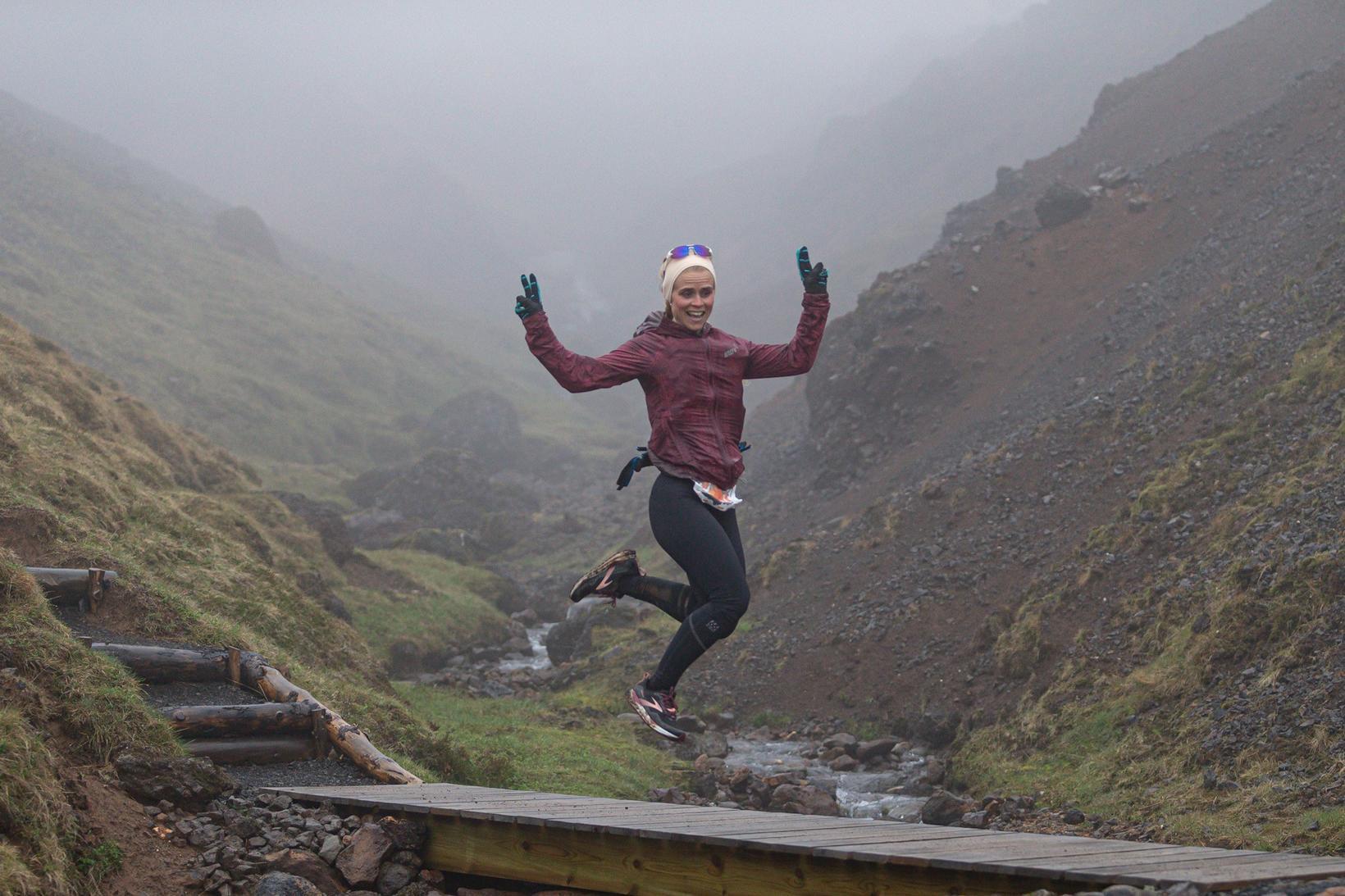 Ragnheiður Sveinbjörnsdóttir kom fyrst í mark kvenna í 161 km …