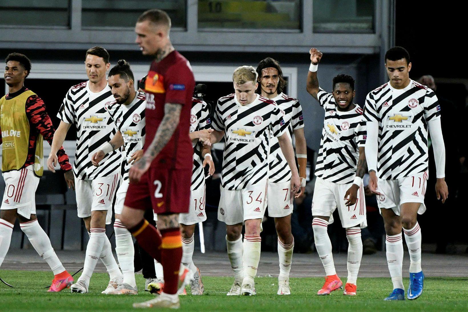 Manchester United tapaði í Róm en það kom ekki að …