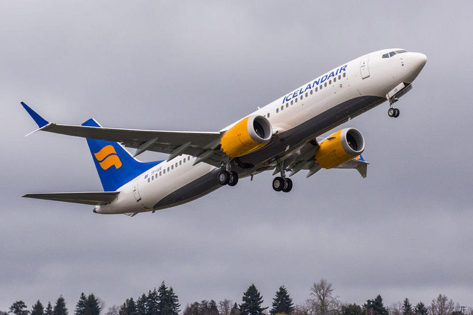 Boeing 737 MAX 8 þota í eigu Icelandair.