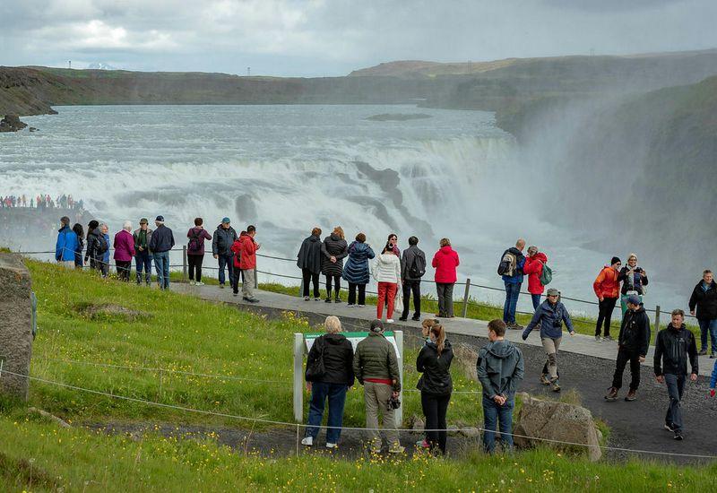 From Gullfoss waterfall.