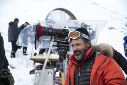 Baltasar Kormákur við tökur á Everest