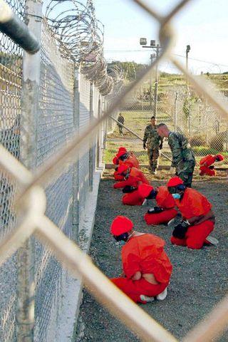 Í Guantanamo fangabúðunum á Kúbu
