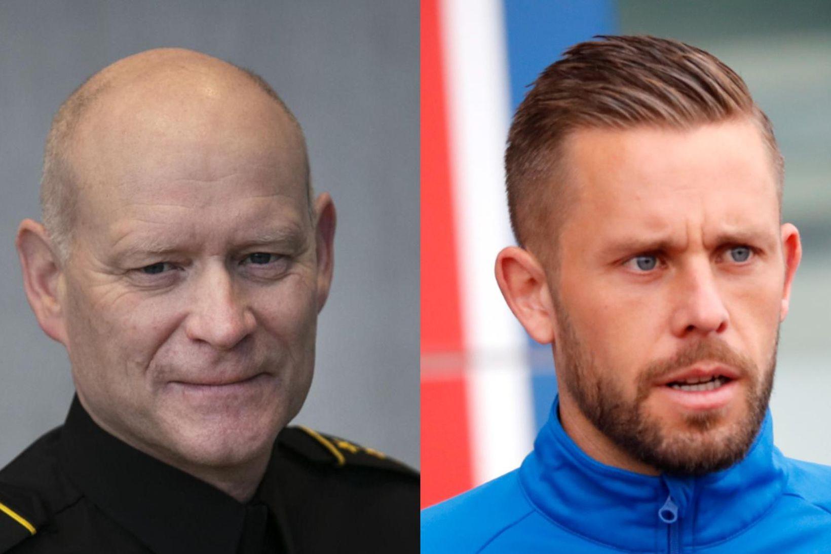 Karl Steinar Valsson, yfirlögregluþjónn alþjóðasviðs ríkislögreglustjóra, og Gylfi Þór Sigurðsson …