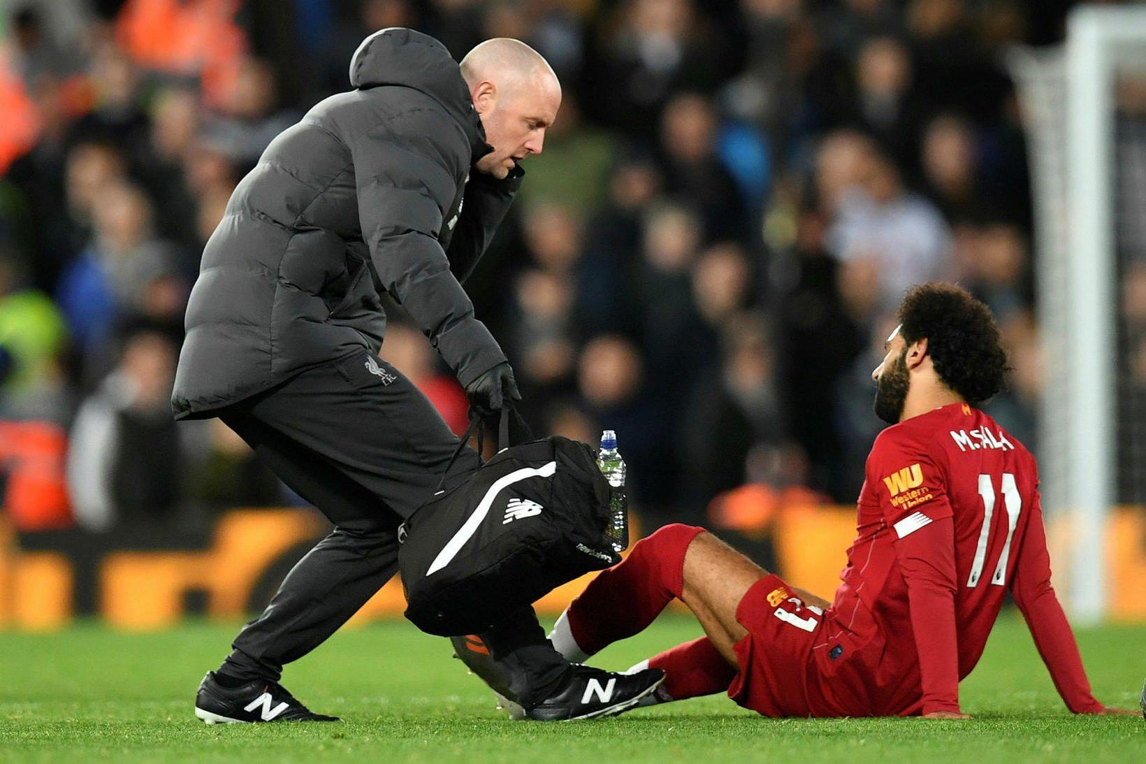 Mohamed Salah hefur verið tæpur vegna ökklameiðsla að undanförnu.