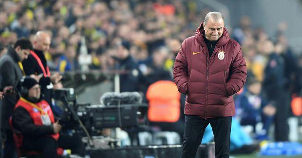 Fatih Terim á hliðarlínunni hjá Galatasaray í síðasta mánuði.