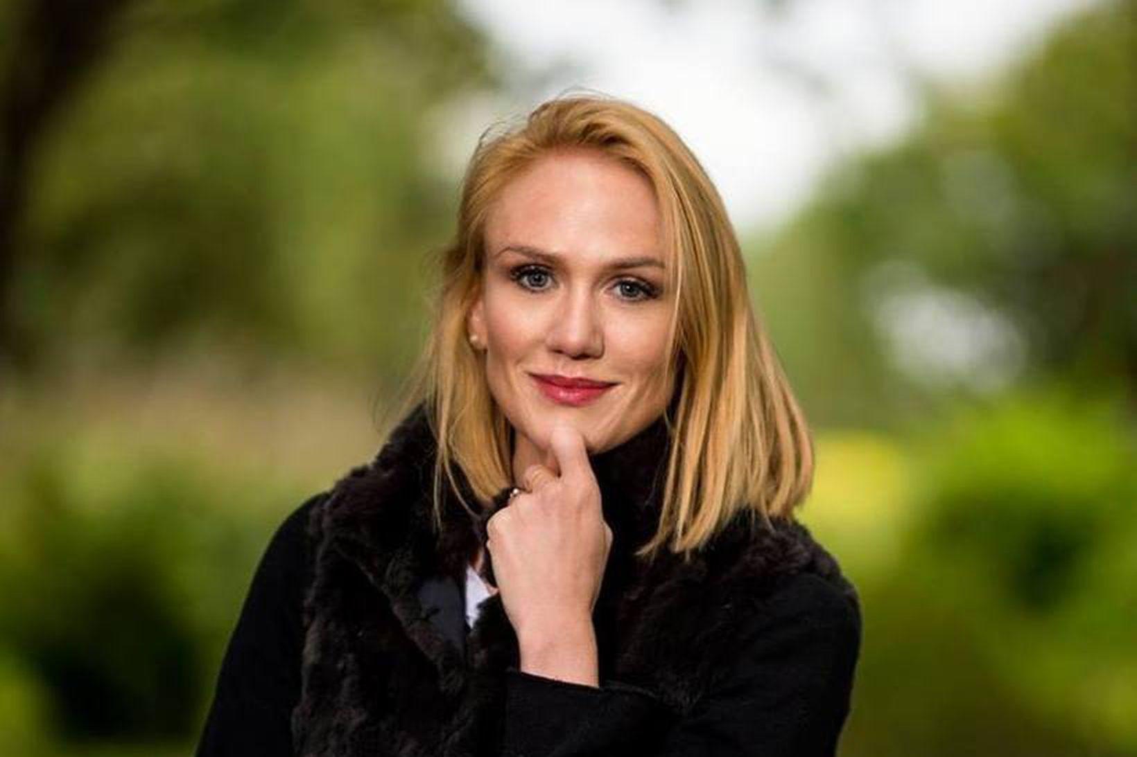 Hanna Kristín Skaftadóttir flýtti ferð sinni til Íslands vegna kórónuveirunnar.