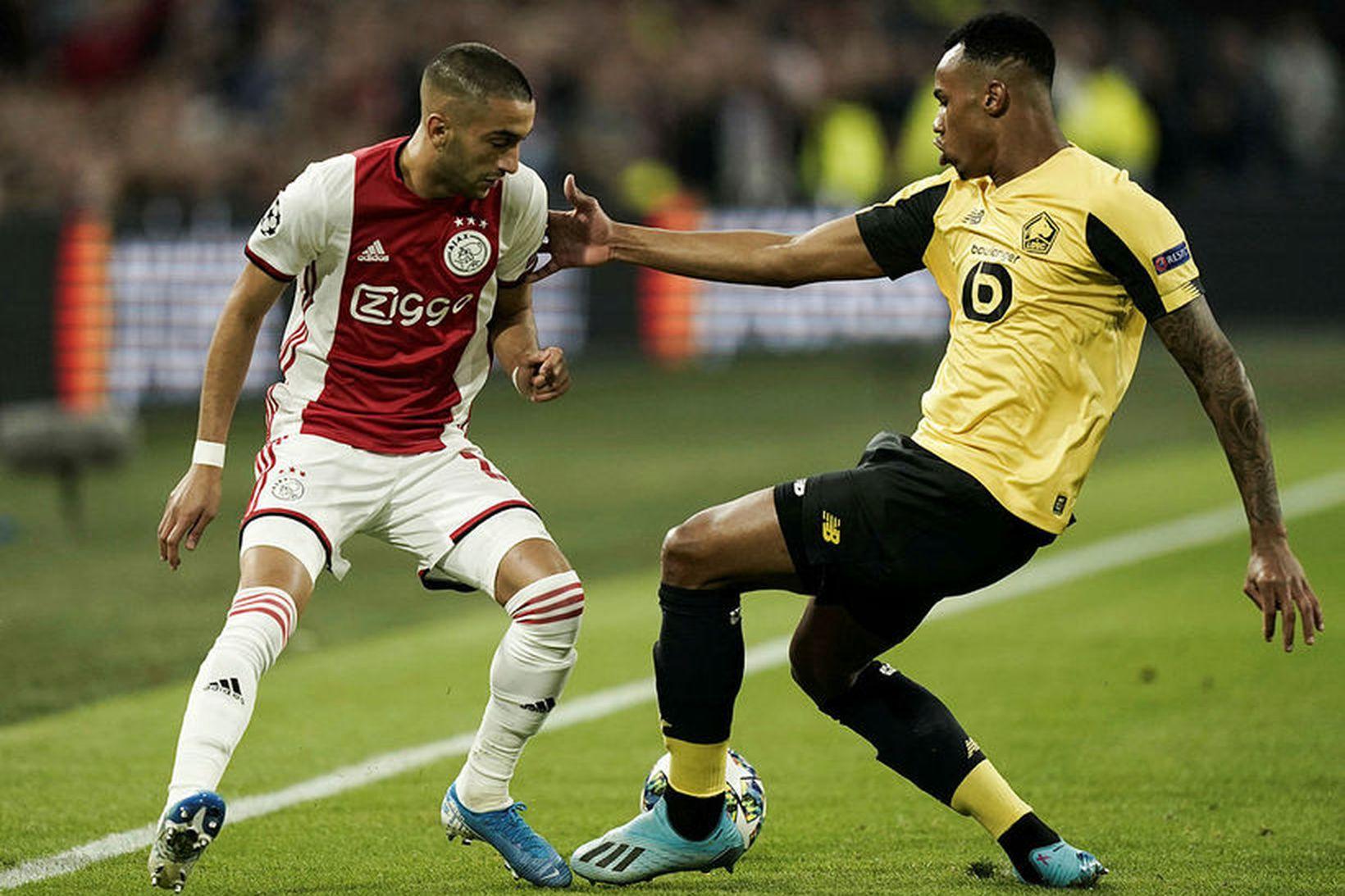 Frá leik Ajax og Lille í kvöld.