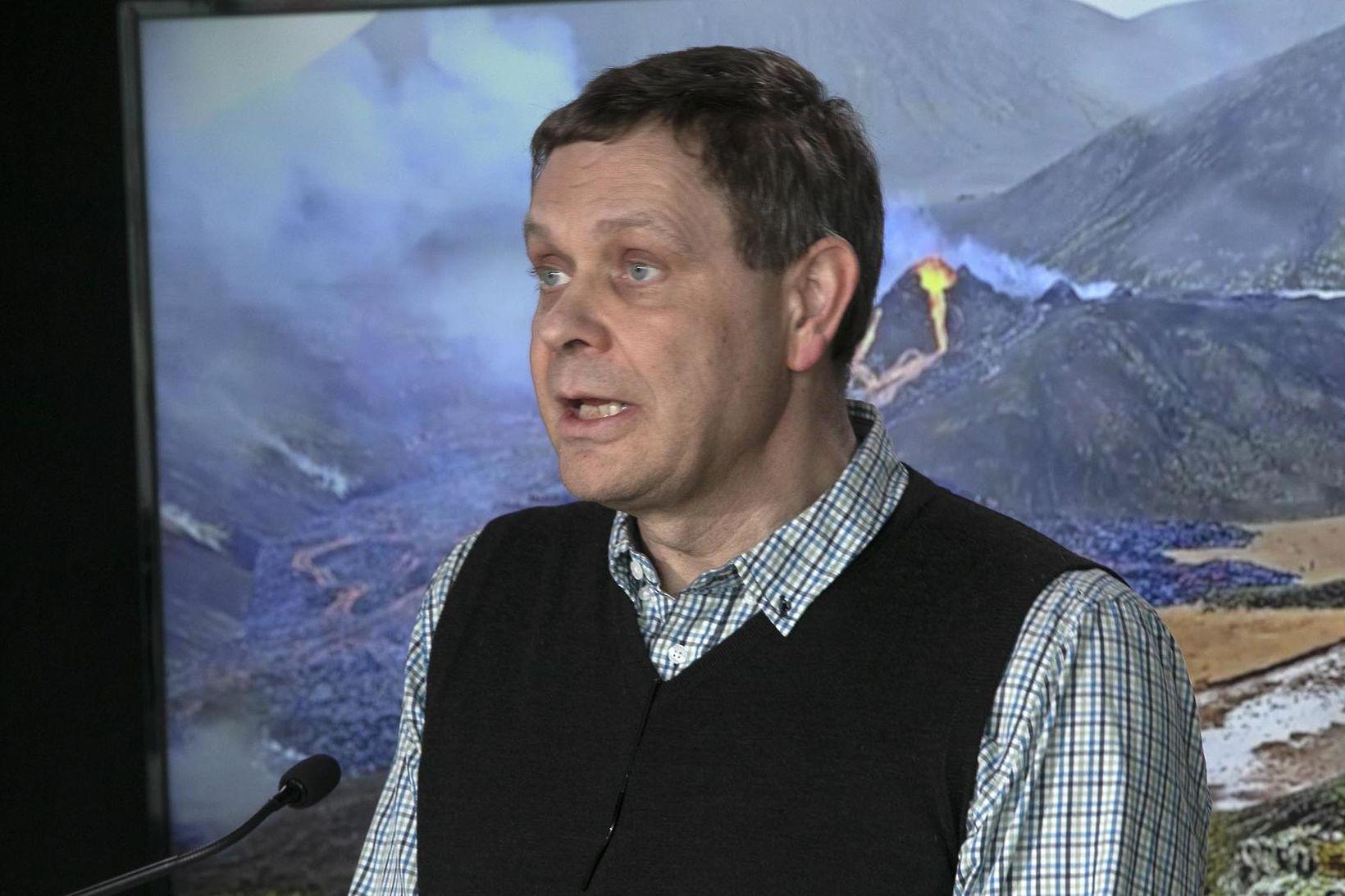 Magnús Tumi Guðmundsson, prófessor í jarðeðlisfræði.