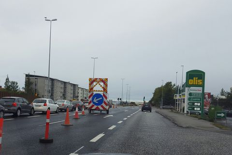 Traffic closures for the Tour of Reykjavik last year.