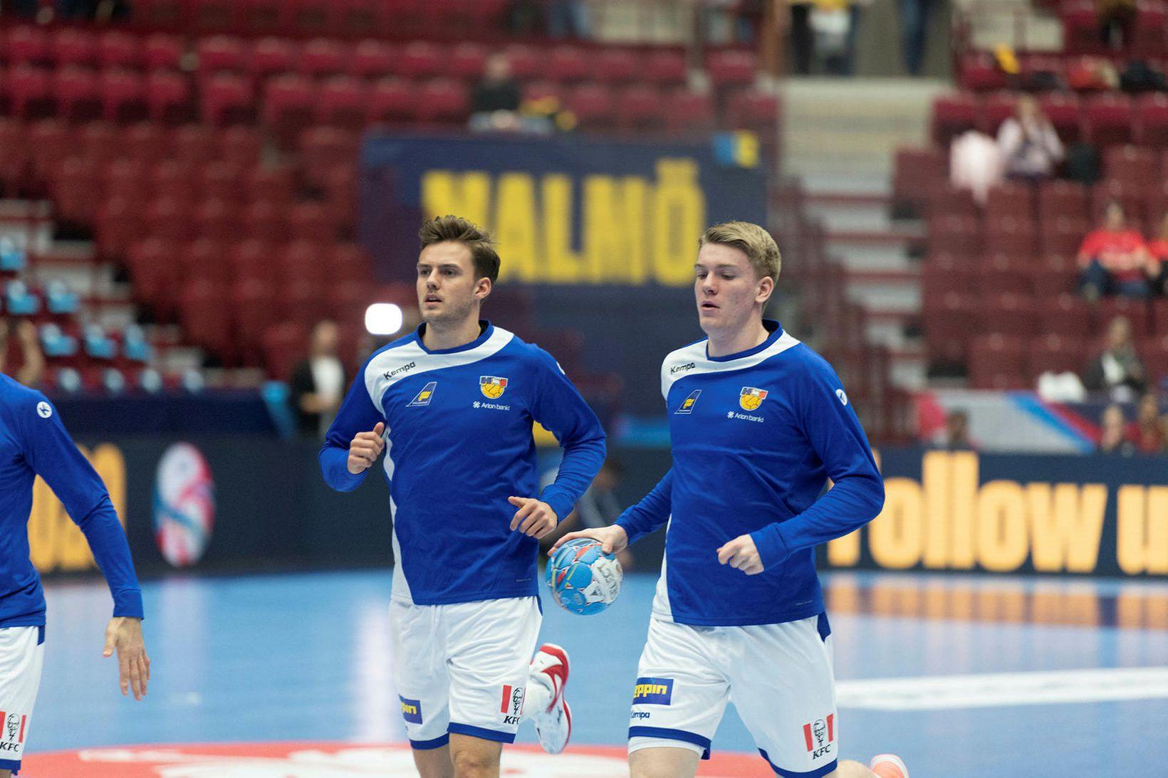 Sigvaldi Björn Guðjónsson og Haukur Þrastarson eru samherjar hjá pólska …