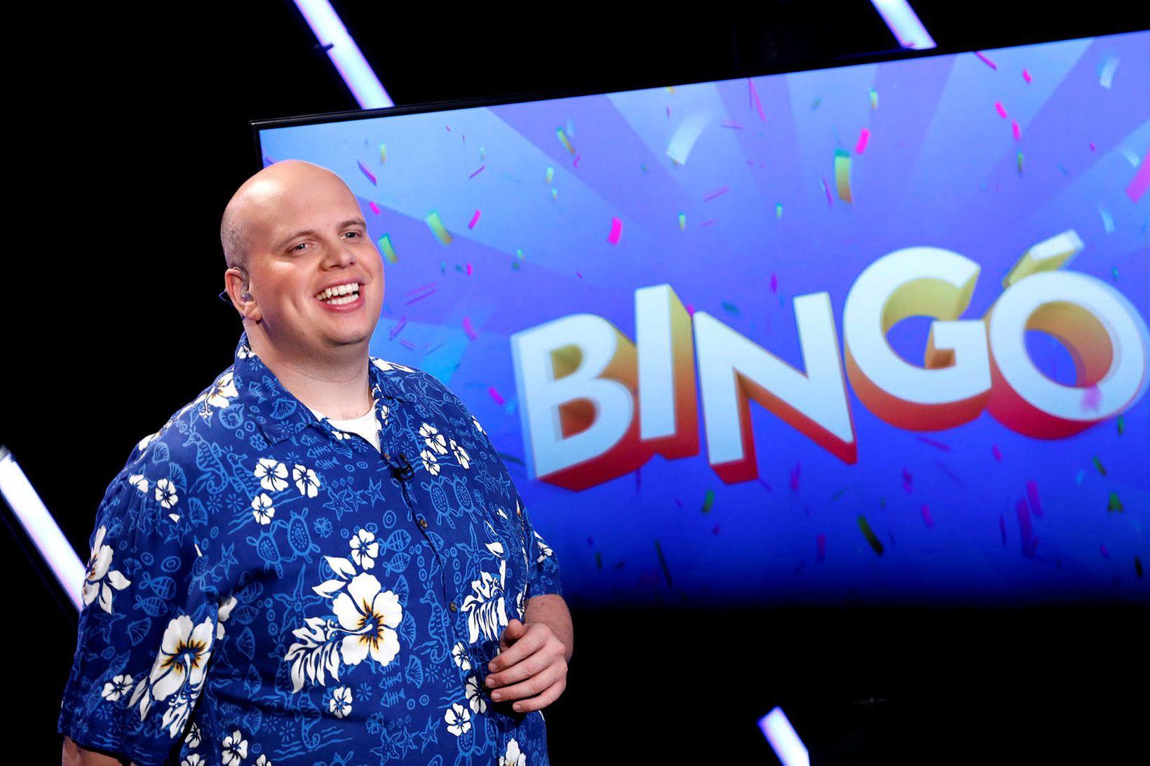 Sigurður Þorri Gunnarsson bingóstjóri á K100.