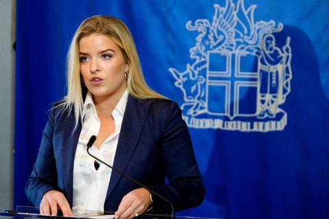 Minister of Justice Áslaug Arna Sigurbjörnsdóttir.