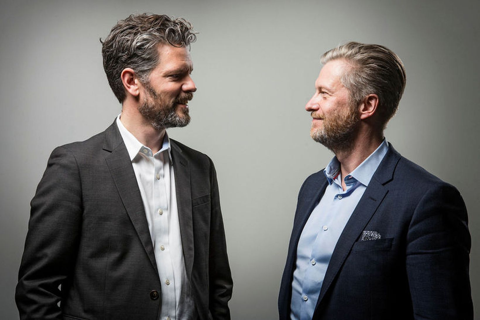Dagur B. Eggertsson og Eyþór Arnalds, í myndatöku fyrir sveitarstjórnarkosningarnar …