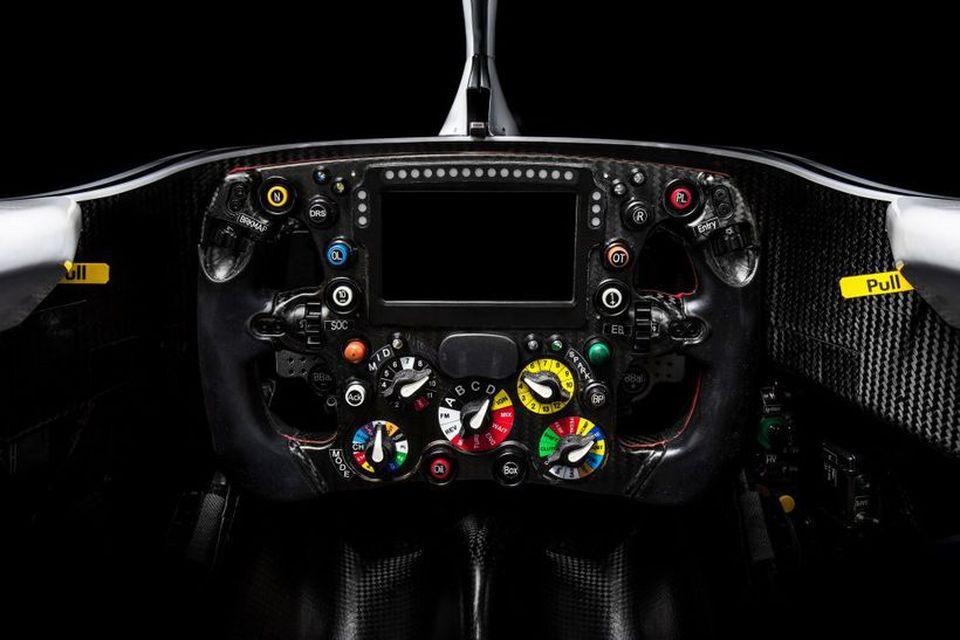Stýrishjól 2018 bíls Sauber.