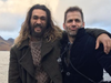 Jason Momoa and director Zach Snyder in Iceland.