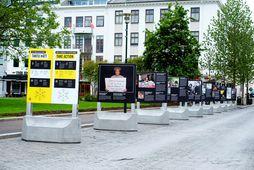 Reykjavíkurborg segir mikilvægt að halda gangstéttum í miðbænum algerlega hindrunarlausum fyrir þann fjölda fólks sem …